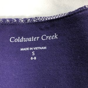 NWT Coldwater Creek Lace Overlay Sleeveless Top S
